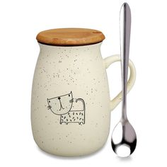 AmazonSmile | Cat Mug, Funny Ceramic Coffee mugs with Lid and Spoon, Cute Tea Cups Novelty Gift for Cat Lovers, Women, Girlfriends: Coffee Cups & Mugs Cat Lover Gifts, Cat Gifts, Gifts In A Mug, Cat Lovers, Gift Mugs, Funny Tea Cups, Cute Tea Cups, Best Coffee Mugs, Coffee Cups