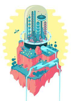 04 / Diego Barrionuevo / Ciudades / from: La vuelta al mes en 30 ilustradores