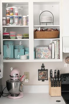 Baking Nook in the kitchen... I am going to do this! Love it!