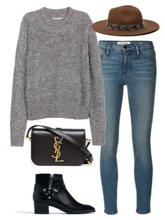 """""""Untitled #778"""" by leeline ❤ liked on Polyvore featuring Frame Denim, Zara, Yves Saint Laurent, women's clothing, women's fashion, women, female, woman, misses and juniors"""
