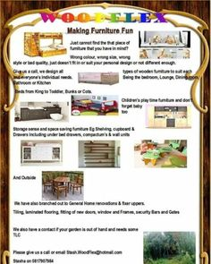 Just cannot find the that piece of furniture that you have in mind?, we design all types of wooden furniture to suit each and everyone's individual needs, Please Contact Stash 0817907984 Stash.Woodflex@hotmail.com