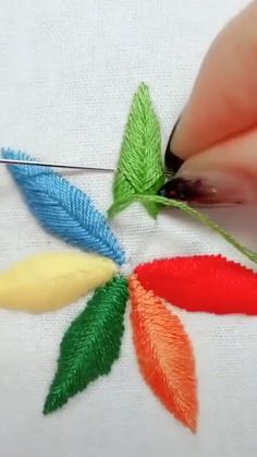 Creative ideas about Embroidery and stitching. Creative ideas about Embroidery and stitching. Hand Embroidery Videos, Embroidery Stitches Tutorial, Sewing Stitches, Hand Embroidery Patterns, Embroidery Techniques, Ribbon Embroidery, Cross Stitch Embroidery, Sewing Art, Sewing Crafts