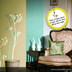 Here's an easy idea to add a bit of spring to your room.