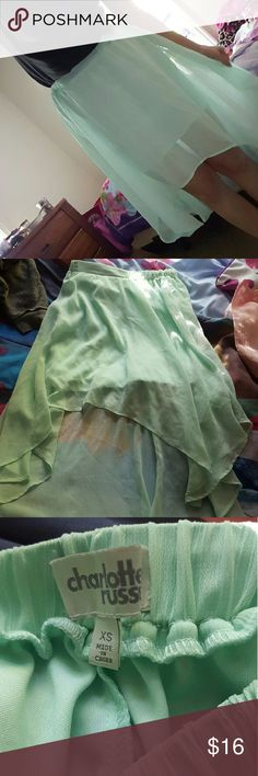 High low skirt Soft green high low skirt from Charlotte Russe Charlotte Russe Skirts High Low