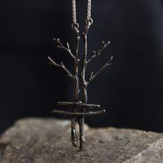 fe-pendant Oxidized Silver, Sterling Silver, Fes, Pendants, Chain, Handmade, Women's Fashion, Jewellery, Accessories