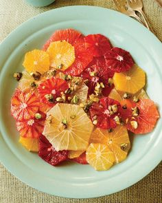 Marinated Citrus Salad with Honeyed Pistachios #sweetpaul