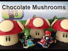Super Mario Mushrooms CHOCOLATE  How To Cook That Ann Reardon maybe for Moe's party if he still likes mario