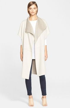 Fall 2015 Tibi Reversible Wool & Angora Coat available at #Nordstrom