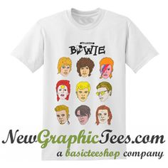 The Many Faces Of Bowie Explore Rad Bowie T Shirt