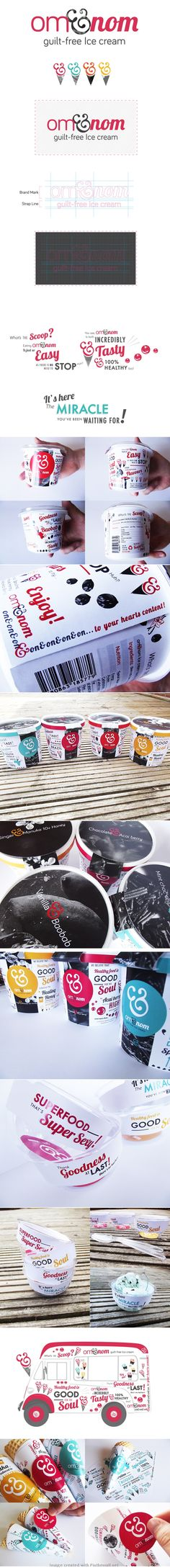 This was so popular I went back and got the rest of the Om-Nom #icecream #packaging #branding story PD created via https://www.behance.net/gallery/Om-nom-Ice-Cream-brand/8663263