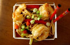 Shrimp Lo Mein by My