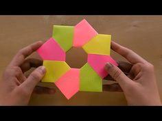 Origami Stern basteln mit Papier-Modulen. Sterne basteln Weihnachten. Weihnachtsdeko falten - YouTube