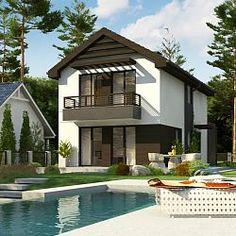 Dom na wąską działkę z pełnym piętrem, garażem oraz 3 sypialniami...