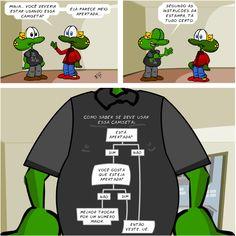 Sapo Brothers, camiseta apertada, tiras, humor, HQ, quadrinhos, infantil