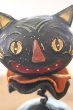 Halloween Black Cat Folk Art