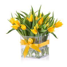Les Tulipes Jaunes dans un Vase