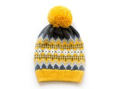 Knitted Hat Fair Isle Hat Nordic Hat Icelandic Hat by MyMyKnit