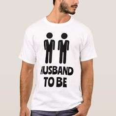 Husband To Be Gay Wedding T-Shirt - engagement gifts ideas diy special unique personalize Gay Men Weddings, Wedding Men, Wedding Ideas, Wedding Themes, Wedding Stuff, Wedding Rings, Team Groom, Gay Pride Shirts, Cute Gay Couples