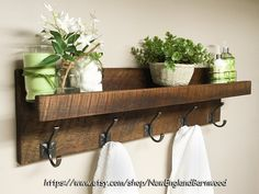 Rustic Coat Rack, Wooden Coat Rack Wall Mount, Entryway Coat Rack With Shelf Combine Vintage and Modern Rustic style charm with this stylish and functional Storage Shelf Coat Rack for your entryway, foyer or mudroom. This UNIQUE!! and Beautiful Rustic Country Farmhouse shelf would be a great
