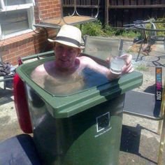Ghetto Homemade Jacuzzi. I actually did this as a child.