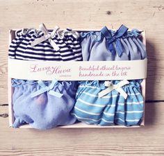 4 x Panties Gift Box/ lingerie set/ Chiffon panty/ by luvahuva