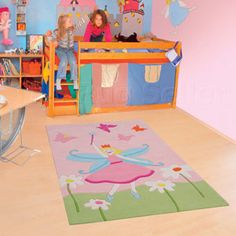 The Kids Line Collection by Arte Espina Childrens Rugs, Kids Line, Felt Applique, Wall Cladding, Creative Play, Contemporary Rugs, Girls Bedroom, Little Ones, Blush Pink