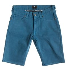 DC Shoes Worker Straight Shorts, Junior, Blue Steel