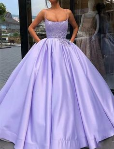 Shop long Quinceanera dresses and gowns at kemedress. Floor-length glamourous ball gowns for Quinceanera parties and courts.Purple, aqua, turquoise, and pink quinceanera dresses. Prom Dresses With Pockets, Cute Prom Dresses, Prom Outfits, Sweet 16 Dresses, Elegant Dresses, Sexy Dresses, Wedding Dresses, Summer Dresses, Long Dresses