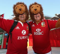 Fans gather for the Lions clash with the Barbarians in Hong Kong
