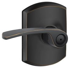 $42.View the Schlage F40-MER-GRW Merano Privacy Door Lever Set with Decorative Greenwich Rose from the F-Series at PullsDirect.com.