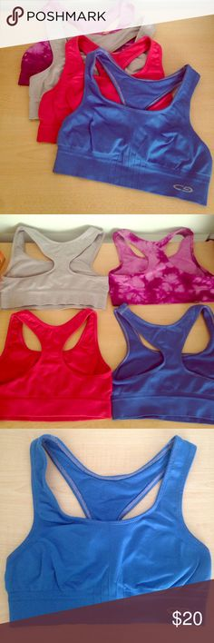 4 Champion Racerback Sports Bras Pre-loved but still good condition!! Soft and comfy! Champion Intimates & Sleepwear Bras
