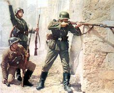 Waffen SS in street fighting