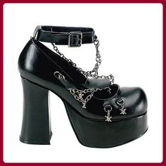 0f15d78bf055eb Demonia Charade 28 goth gothic cyber platform shoes with skull chains 6 12