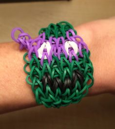 Rainbow Loom - Teenage Mutant Ninja Turtle DONATELLO - made with Genuine Rainbow Loom Bands on Etsy, $5.00