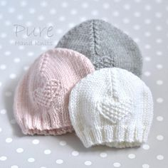 SIMPLE baby hat PREEMIE and NEWBORN knitting pattern