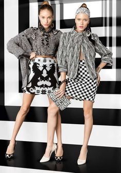 High Contrast Fashion - The Vogue Brazil May 2013 Editorial Stars Giulia Daga and Thais Custodio (GALLERY)