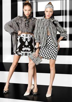 High Contrast Fashion - The Vogue Brazil May 2013 Editorial Stars Giulia Daga and Thais Custodio (GALLERY)