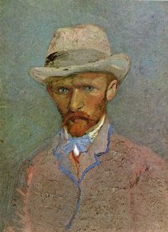 Self-portrait in a felt hat   Vincent Willem van Gogh   was a Dutch post-Impressionist painter whose work, notable for its rough beauty, emotional honesty and bold color, had a far-reaching influence on 20th-century art. After years of painful anxiety and frequent bouts of mental illness,he died aged 37 from a gunshot wound, generally accepted to be self-inflicted (although no gun was ever found). His work was then known to only a handful of people and appreciated by fewer still.