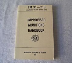 Vintage Army Manual Improvised Munitions Handbook Field