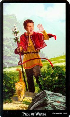 Le valet de bâtons - Tarot sorcières par Ellen Dugan & Mark Evans