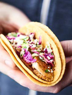 Baked Fish Tacos Recipe via @showmetheyummy