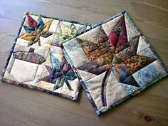 lovely maple leaf & acorn patchwork small quilts