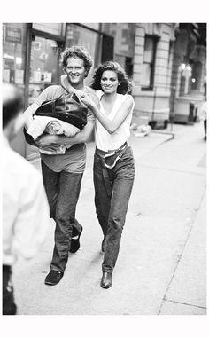 Christiaan Houtenbos & Gia Carangi New York City Photo Arthur Elgort