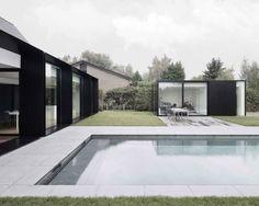 renovierung schwarz glas pool