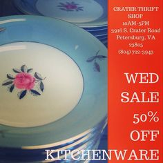 Is it time for a tea party? We have several #china options from formal to casual modern to midcentury! #buylocal #shoplocal #thriftstore #thriftshop #hopewellva #petersburgva #colonialheights #chesterfield #rva #804 #summer #shopping #dishes