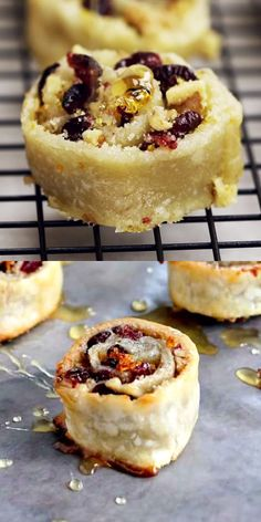 My most asked for and loved Holiday cookie-dessert! Pie dough wrapped around a rich cranberry & walnut filling. Welcome your guests with this delicious take on dessert pinwheels filled with cranberries and nuts. Köstliche Desserts, Holiday Desserts, Holiday Baking, Holiday Recipes, Delicious Desserts, Dessert Recipes, Holiday Sweets Recipe, Passover Desserts, Best Holiday Cookies