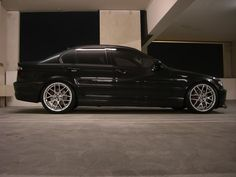 Black E46 sedan with 19 csl rims