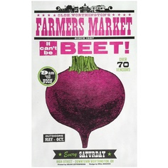 Letterpress Farmers Market BEET poster. $25.00, via Etsy.