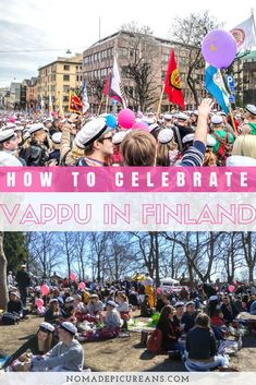 In Finland Vappu is the day Finns come together in the streets to celebrate. Learn what you need to know about visiting Finland during May Day. Traditions, foods, and practical tips included! #travel #finland #vappu