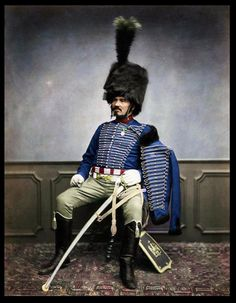 Napoleon's Grande Armée veteran - Monsieur Moret of the second regiment, served 1814-1815 Le Colonel Chabert, Pictures Of Soldiers, Military Costumes, Military Uniforms, Military Dresses, Battle Of Waterloo, Crimean War, War Photography, French Army
